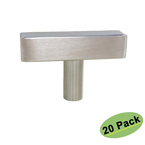 rawer Pulls and Knobs Brushed Nickel Stainless Steel 20 Pack-Homdiy HDJ22SN 2in 50mm Length T Bar Kitchen Cabinet Door Handles (Single Hole Pull)