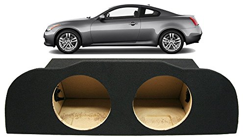Compatible with 2003-2014 Infiniti G35 Coupe Dual 10″ Subwoofer Enclosure Sealed Sub Box