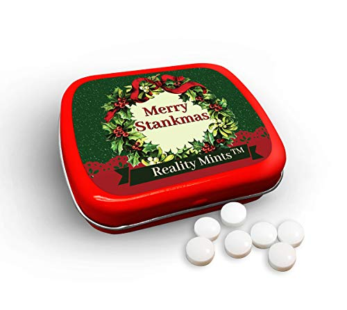 GearsOut Merry Stankmas Mints Cute Holiday Gags for Friends Men Women Weird Stocking Stuffers for Adults Peppermint Breath Mints Secret Santa White Elephant Office Christmas Stank Mints ()