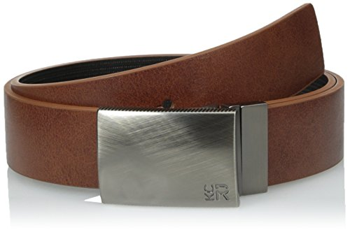 - Kenneth Cole REACTION Men's 1 1/4 in. Reversible Plaque Belt With Textured Strap,Tan/Black,36