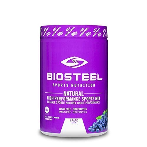 Biosteel High Performance Sports Drink Powder, Naturally Sweetened with Stevia, Grape, 315 Gram