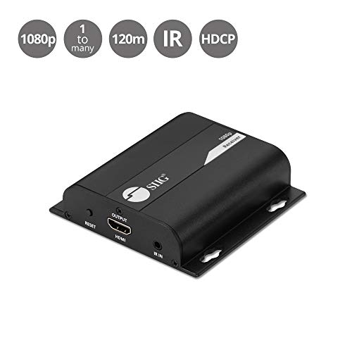 (SIIG HDMI HDbitT Receiver for HDMI Over IP Extender One-to-Many Kit, 1080p HD, 395ft - (Additional Receiver Box Only for SKU:)