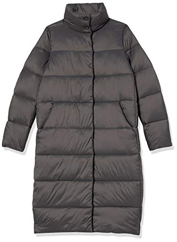 Essentials Womens Midweight Water Resistant Long Sleeve Longer Length Relaxed Fit Cocoon Puffer Coat