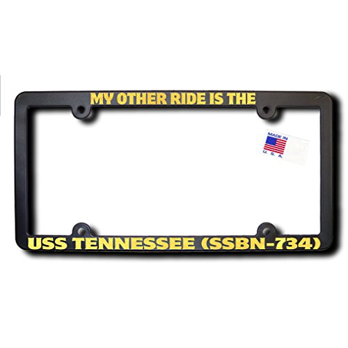 My Other Ride USS TENNESSEE (SSBN-734) License Frame w/METALLIC GOLD TEXT