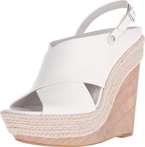 alice + olivia Women's Lia Bone Smooth Vacchetta Sandal