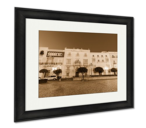 Ashley Framed Prints San Antonio Church In Cadiz Cadiz Andalusia Spain, Wall Art Home Decoration, Sepia, 30x35 (frame size), Black Frame, AG6515437