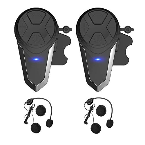 Motorcycle Bluetooth Headset,BT-S3 1000m Helmet Headphones for Snowmobile Motorcycle Bluetooth Communication System Ski Intercom Up to 3 Riders(Pack 2)