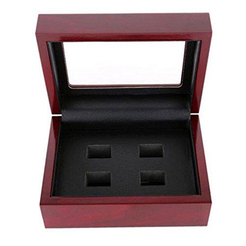 - Wang Yaqin Wooden Display Ring Box 2/3/4/5/6holes World Series Stanley Cup Championship Ring (4 Holes)