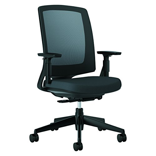 Desk Chairs Hon (HON HON2281VA10T Lota Office Chair - Mid Back Mesh Desk Chair or Conference Room Chair, Black (H2281))