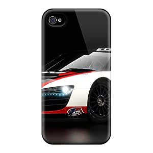 Durable Case For The Iphone 4/4s- Eco-friendly Retail Packaging(audi R8 Lms)