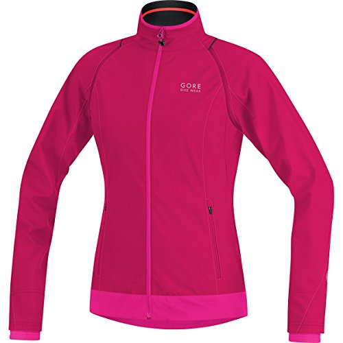 Gore Bike Wear Race (GORE BIKE WEAR 2 in 1 Women's Cycling Jacket, Super-Light, Compact, GORE WINDSTOPPER,  LADY WS AS Zip-Off Jacket, Size L, Jazzy Pink/Magenta, JWZLEL)