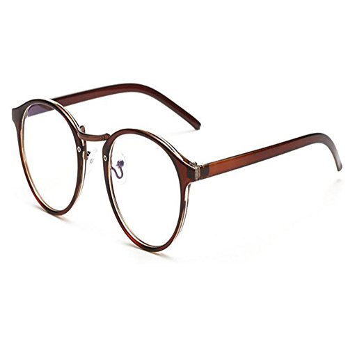 Lente Marrón Gafas UV Anti Hombre Marco Redondas Xinvision radiación Claro Transparente luz Moda Mujer Computadora Eyewear Anti azul tTnwx1O4q
