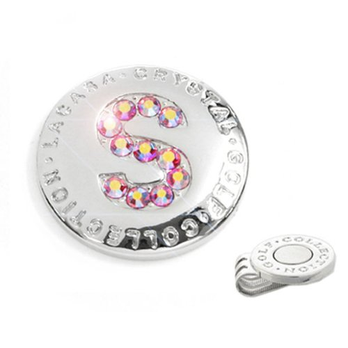 Elixir Golf Crystal Golf Ball Marker with Hat Clip, Initial S