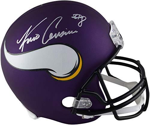 (Kirk Cousins Minnesota Vikings Autographed Riddell Replica Helmet - Fanatics Authentic Certified - Autographed NFL Helmets)