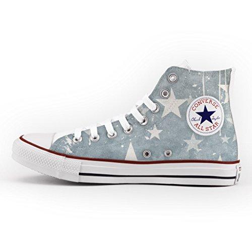 Converse All Star Personnalisé et Imprimés - chaussures à la main - produit Italien - Faded Stars