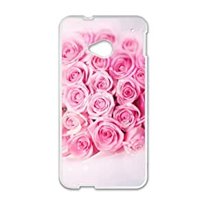 Pink Rose Romantic personalized creative custom protective phone case for HTC M7