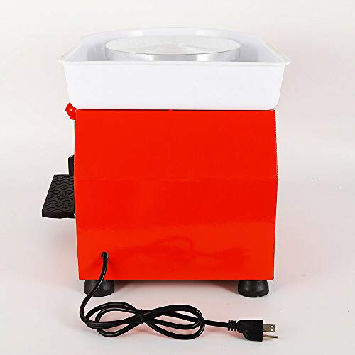 Art Supply Ceramics TBVECHI 350W Electric Pottery Wheel Molding Machine for Ceramic Work Clay Art Craft DIY 110V 3 Types - Reversible Spin Direction - Ceramics Clay Pot, Bowl, Cup, Art (Orange) by TBvechi (Image #5)