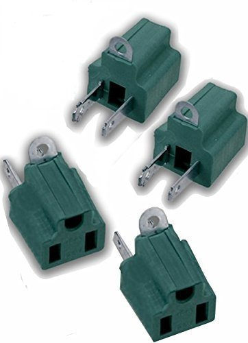 Adapter Cyberpower (3-Prong To 2-Prong Adapter, Electric Grounding Outlet Converter, 2-Pack (4 PCS))