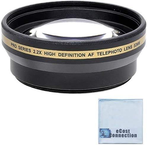 DavisMAX 58mm Macro Close Up Kit 2X Telephoto Lenses Wide Angle 3 Piece Filter Kit for Nikon D3200 with Nikon 55-300mm Lens Fibercloth Lens Bundle