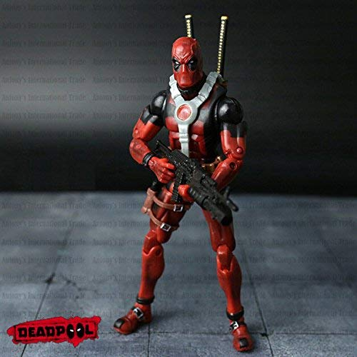 PAPWELL Deadpool Action Figure 6.3 inch Marvel Legends Xforce Xmen Hot Toys Antihero Figures Red Superhero PVC Toy Christmas Collectibles Halloween Collectible Gifts Collectable Gift for Kids Children