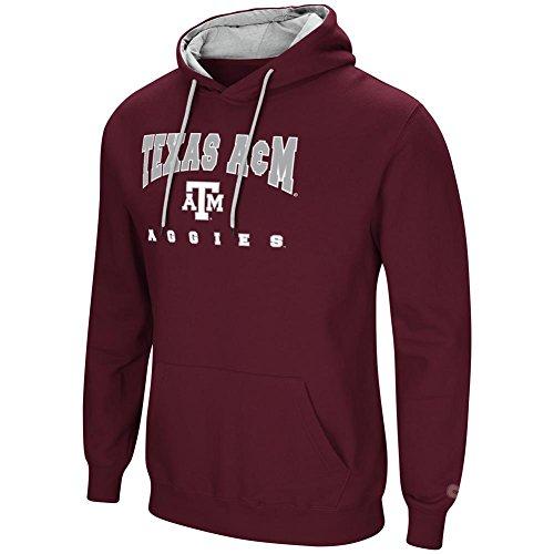 Colosseum Texas A&M Aggies Men's Hoodie Pullover Hooded Sweatshirt ()