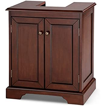 weatherby bathroom pedestal sink storage cabinet walnut. Black Bedroom Furniture Sets. Home Design Ideas