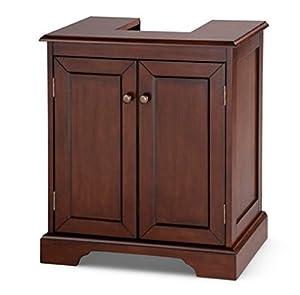 Weatherby Bathroom Pedestal Sink Storage Cabinet Walnut