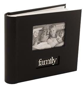 Malden 6790-26 Family Bookbound Photo Album for 200 Photos, (Black)