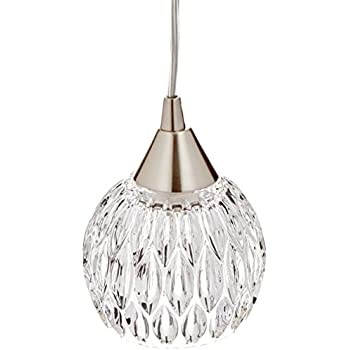 elk lighting kersey collection 1 light mini pendant satin nickel