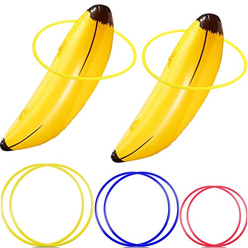 Inflatable Banana Ring Toss Game for Bachelorette Party,Girls go Out at Night to Play Hen Party Games, Bridal Shower, Lingerie Party, Decoration and Accessories Engagement Party(2 Set) ()