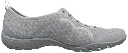 Easy Grey Grigio Skechers Breathe Fortune Knit Sneaker Donna 57UTq