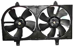 Cooling Radiator Nissan Fan Sentra - TYC 620730 Nissan Sentra Replacement Radiator/Condenser Cooling Fan Assembly