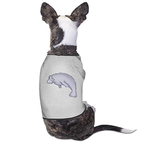 Nicokee Puppy Dogs Shirts Costume Manatee Pets Clothing Warm Vest T-Shirt M -