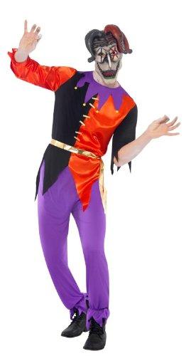 Smiffys - Disfraz de bufón de circo, talla 52-54 (38866L): Amazon ...