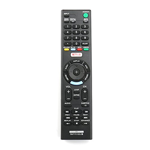 New RMT-TX102U Replace Remote Control fit for Sony TV KDL-32