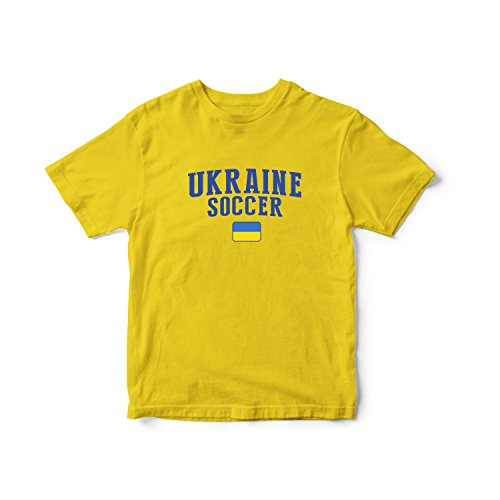 (nobrand Ukraine World Cup T-shirt Country Soccer For Kids & Mens (Infant Yellow 2 T))