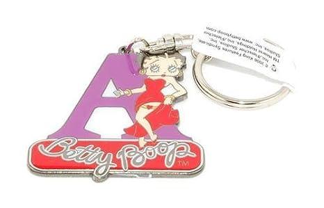 Betty Boop - Llavero de Metal, diseño de Letra A: Amazon.es ...