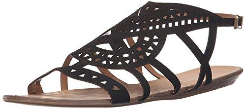 Report Women's Lidia Flat Sandal, Black, 8.5 M US ()