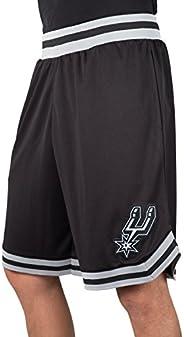 Ultra Game NBA San Antonio Spurs Mens Woven Basketball Shorts, Team Color, Large