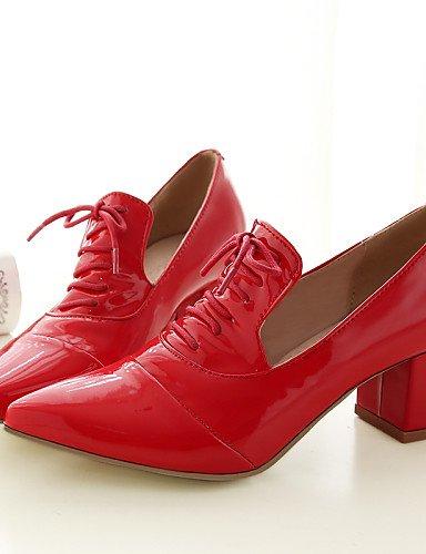 Exterior De Pink 5 us10 Zapatos Red Tacón Eu42 Robusto Mujer Trabajo Semicuero Cn43 Cn41 Puntiagudos Y us9 Casual 5 Uk7 Eu40 Uk8 Vestido Comfort Oxfords negro Oficina Zq 58Aq1A