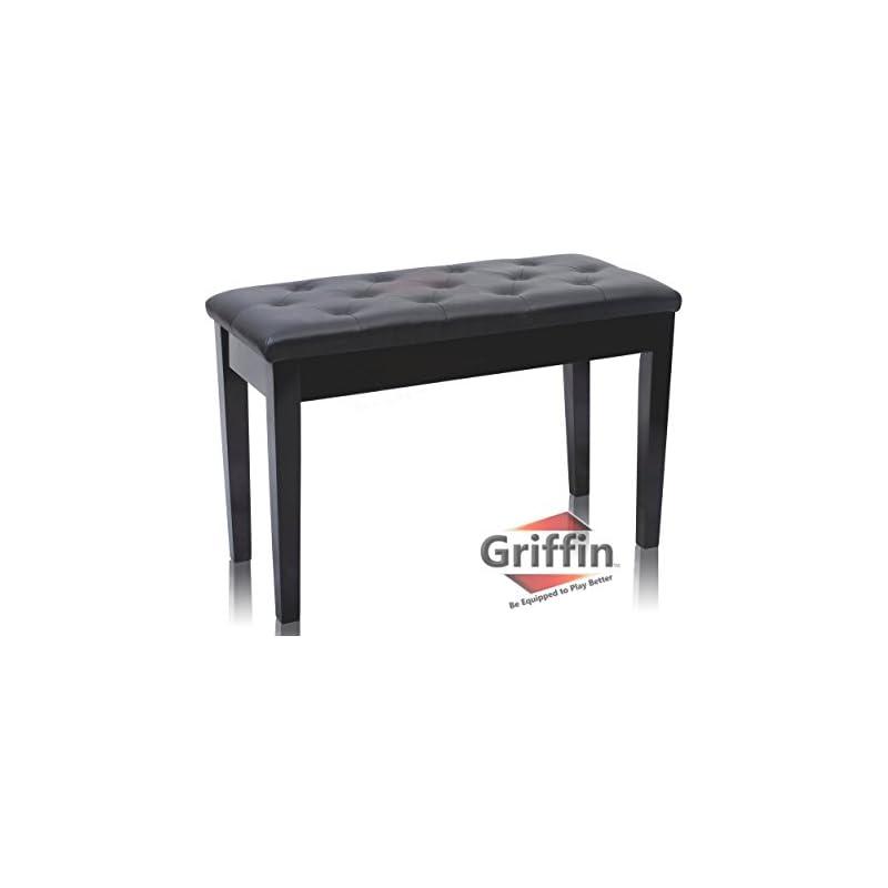 Premium Antique Black Piano Bench By Gri