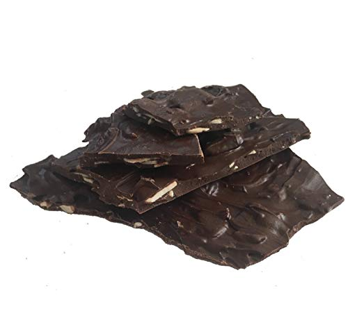 Salted Almond - 2 Bags - Dark Protein Chocolate Bark - Keto Friendly - Mixed with Real Almonds and Himalayan Pink Salt, Diabetic Friendly, Whey Protein, Guilt Free, NON-GMO, Zero Added Sugar
