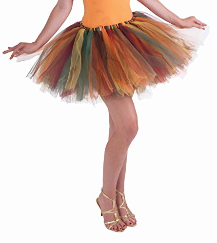 Forum Novelties Women's Fantasy Adult Autumn Fairy Tutu, Multi-color, One Size -