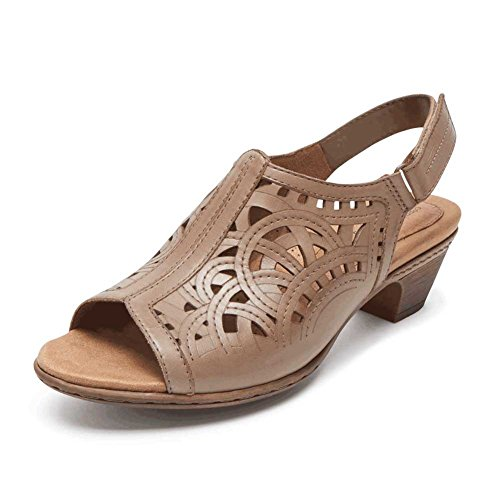 wide range of online Rockport Cobb Hill Collection Abbott Women's Sandal Khaki Leather buy cheap outlet UwMpkZg