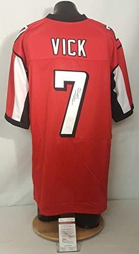 Michael Vick Autographed Signed Memorabilia Atlanta Falcons Red Football Jersey - JSA Authentic (Vick Atlanta Falcons Autographed Football)