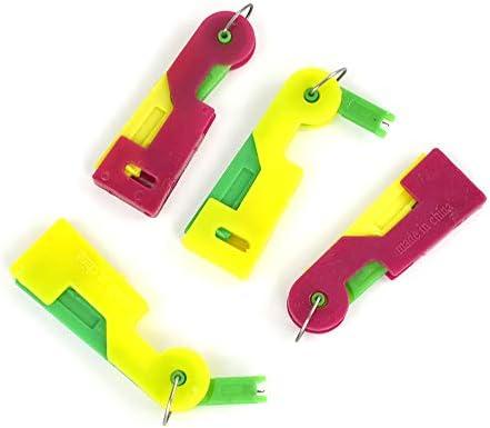 Tyou 縫製キットニードルスレッダー自動簡単縫いニードルデバイススレーターベルトループ ランダムカラー 5個