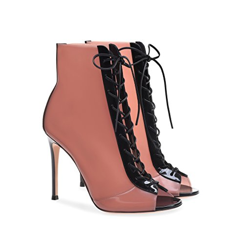 Women's Fashion Mouth Sandals Heels Girls Pink 35 High Boots Comfort Cool Pump Fish Pink Party BqCCS0xw