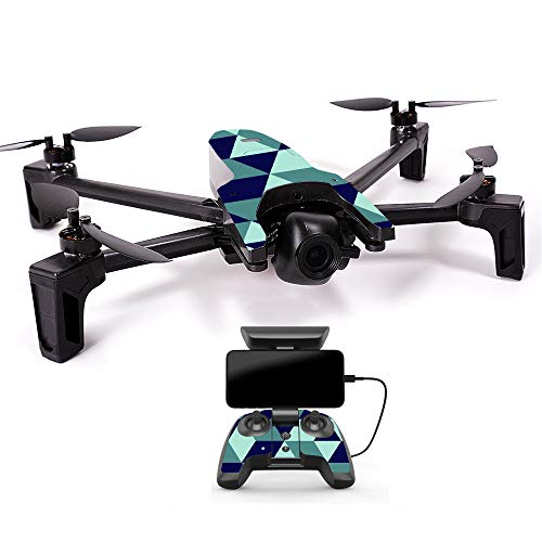 MightySkins Skin for Parrot Anafi Drone - Geo Tile | Protective, Durable, and Unique Vinyl Decal wrap Cover | Easy to Apply, Remove, and Change Styles | Made in The USA