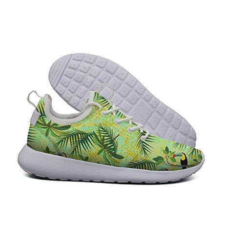 Euixo Green Toucans Tropical Birds lightweight sneakers for women Outdoor Comfort by Euixo