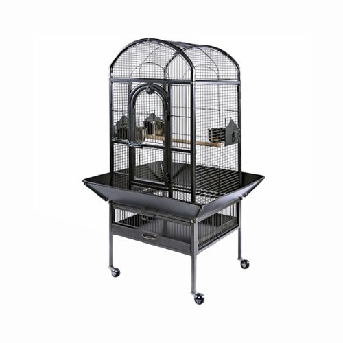Prevue Pet Products Dometop Cockatiel Cage Small Pewter 20in x 20in x 56in